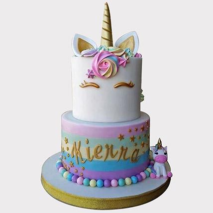 Unicorn Themed Cake: Baby Shower Cakes