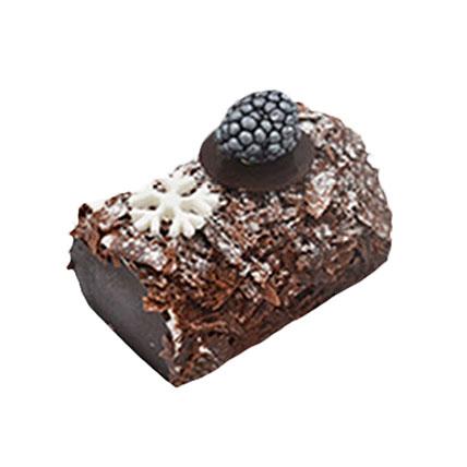 Black Forest Mono Log Cake Combo: Yule Log Cake
