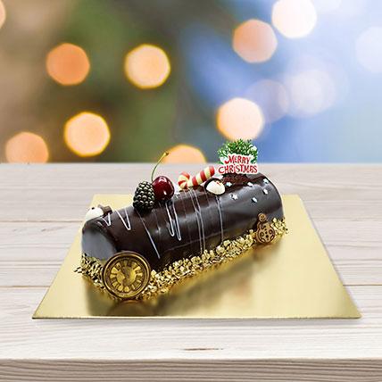 Mikado Log Cake: Yule Log Cake