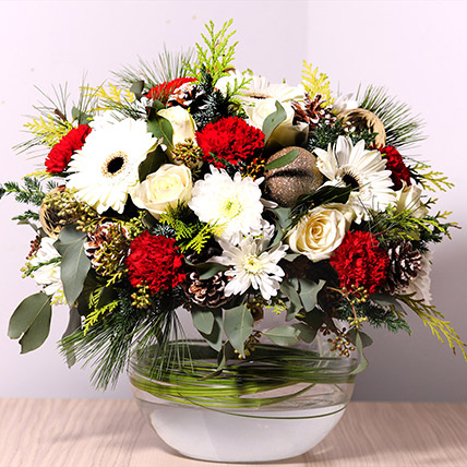 Bowl Of Fragrant Flowers: Christmas Flowers