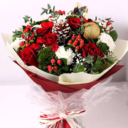 Christmas Themed Floral Bouquet: Christmas Gifts