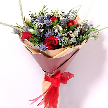 Xmas Decorations Flower Bouquet: Christmas Flowers