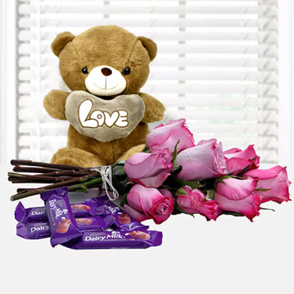 Fall in Love Again: Teddy Day Flowers