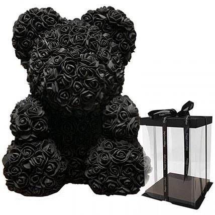 Artificial Black Roses Teddy: