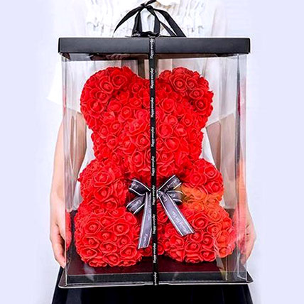 Artificial Red Roses Teddy: Artificial Flowers
