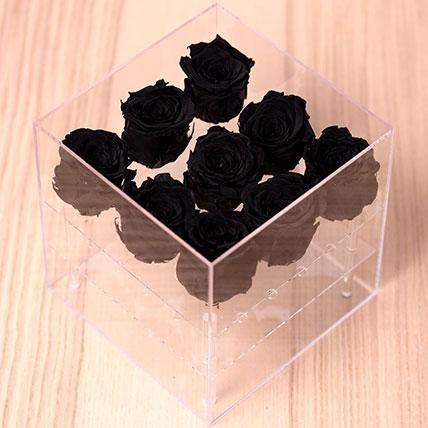 9 Forever Black Roses: Forever Rose Dubai