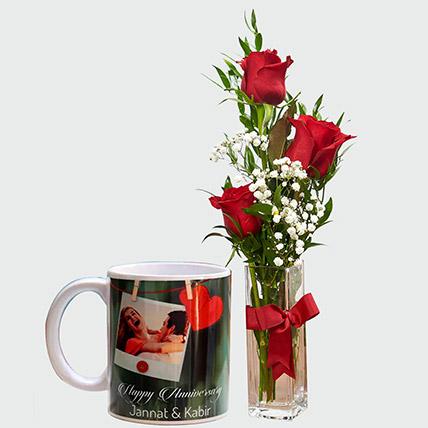 Lovable Roses and Personalised Mug: