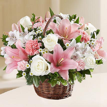 Beautiful Flowers Basket: Birthday Basket Arrangements