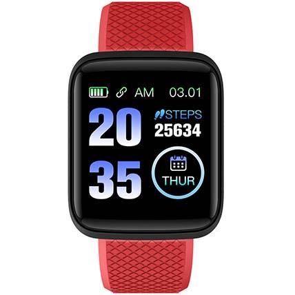 Red N Black Activity Tracker Watch: Accessories