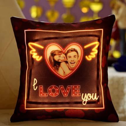 I L U Personalised LED Cushion: Personalised Cushions