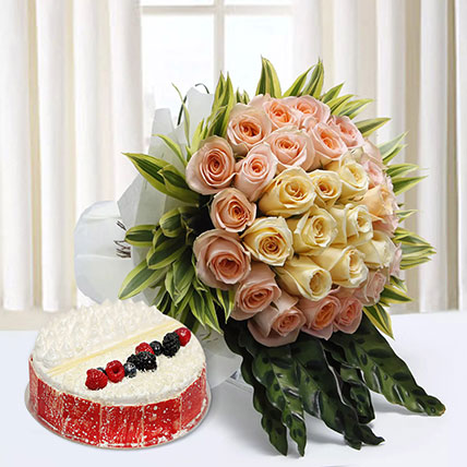Sophistication Reprised: Anniversary Flowers & Cakes