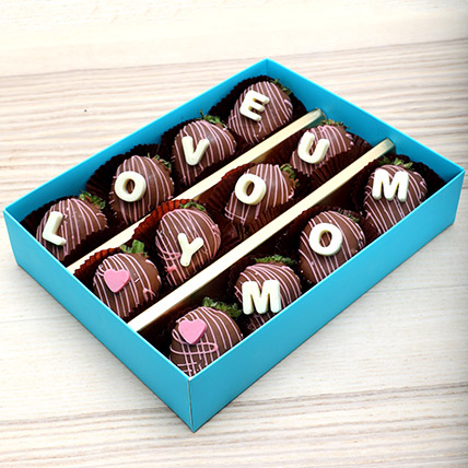 Love You Mom Chocolate Strawberries: Mother's Day Gift Ideas