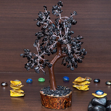 Black Agate Stone Handcrafted Wishing Tree: 1 Hour Gift Delivery