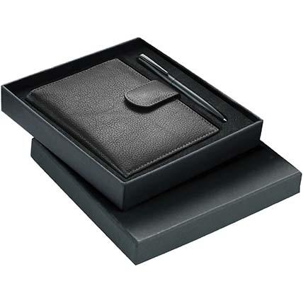Black Passport Holder Pen Gift Set: Accessories