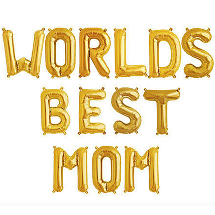 Worlds Best Mom Balloon Set: Gifts for Mother