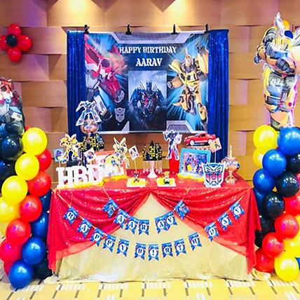 Transformers Theme Decor: Balloon Decoration Dubai
