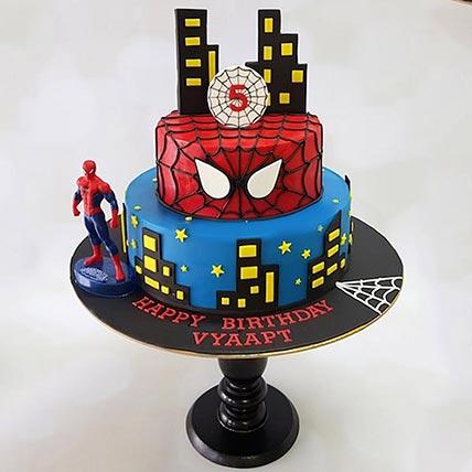2 Tier Spiderman Cake: Spiderman Cakes