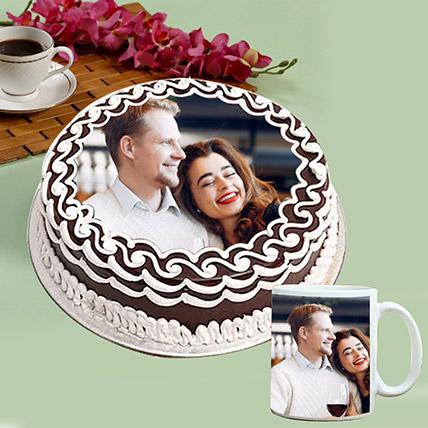 Personalised Chocolate Cake And White Mug: Personalized Mugs Dubai