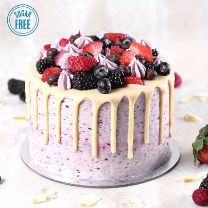 Sugar Free Vanilla Berry Delight: Diabetic Cakes