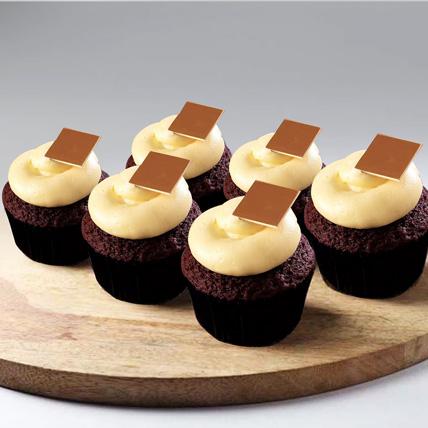 Delightful Red Velvet Cupcake Gluten Free 6pcs: