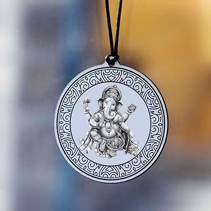 Ganesha Blessings Personalised Car Hanger:
