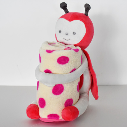 Ladybug Soft Toy with Baby Blanket: Birthday Gifts for Kids