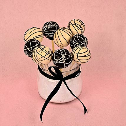Elegant Vanilla Dipped Chocolate Brownie Cake Pops: Edible Gifts