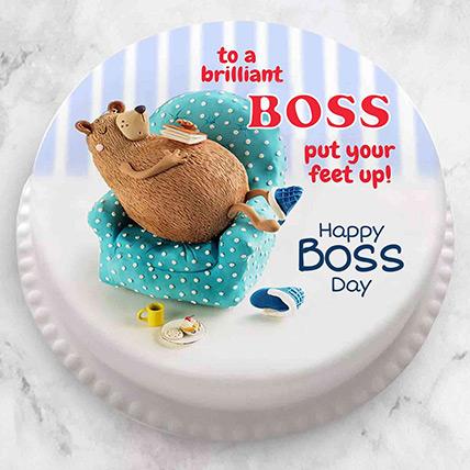 Brilliant Boss Fondant Cake: Gifts for Boss