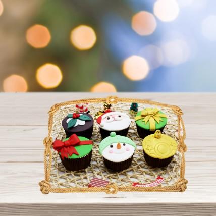 Assorted Xmas Themed Cupcakes: Xmas Cake