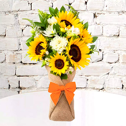 Sunflower Galore Bunch: New Arrival Gifts in Dubai