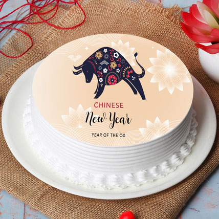 Year Of Ox Cake: Chinese New Year Gifts