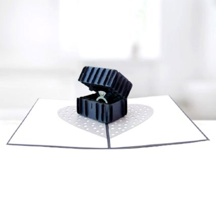 Ring In A Box 3D Card: Gifts for Men