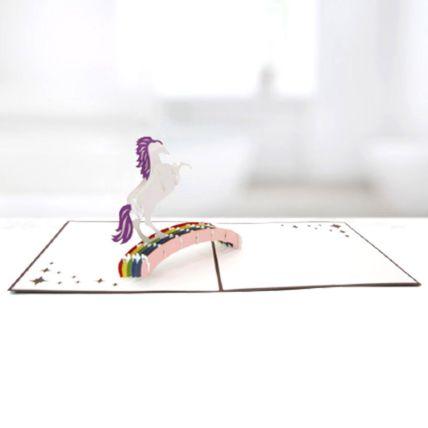 Unicorn 3D Card: