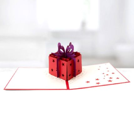 Best Wishes Gift Box 3D Card: