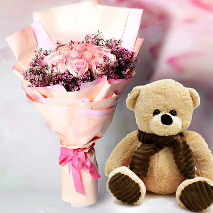 Just Sending You Lots of Love: Anniversary Flowers and Teddy Bears