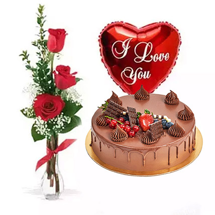 Anniversary Surprise Collection: Cake and Flower Delivery in Dubai