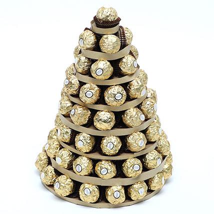 Ferrero Rocher Tower: Chocolate Bouquet