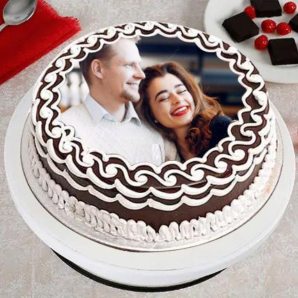 Delightful Designer Photo Cake: Black Forest Cake