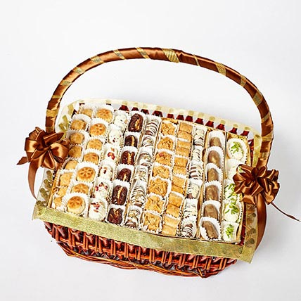 Dates and Assorted Baklava Basket: Order  Lebanese sweets