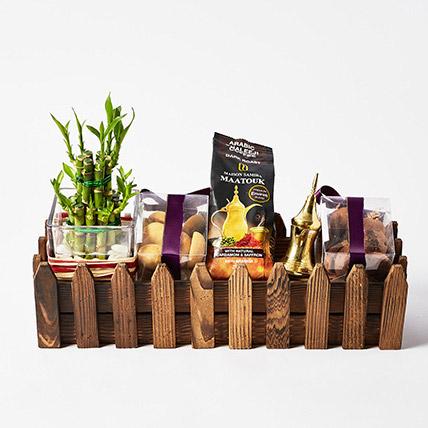 Bamboo Plant N Cookies Hamper: Eid Gift Hampers