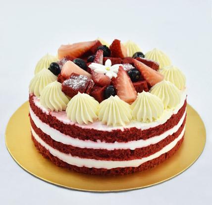 4 Portions Red Velvet Cake: Half Kg Cakes