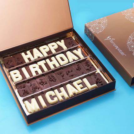 Customized Birthday Chocolate: Personalized Gifts