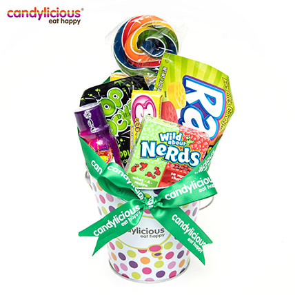 Candylicious Bucket Tin Dots Gift Pack: Candylicious