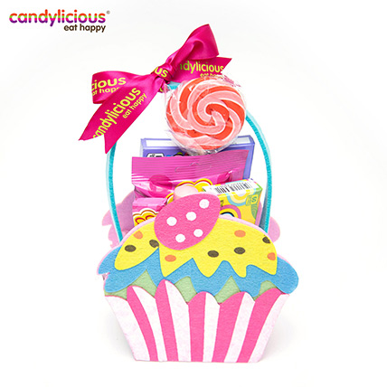 Candylicious Cupcake Felt Pink Gift Pack: Birthday Gifts for Kids
