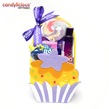 Candylicious Cupcake Felt Purple Gift Pack: Gift Hampers
