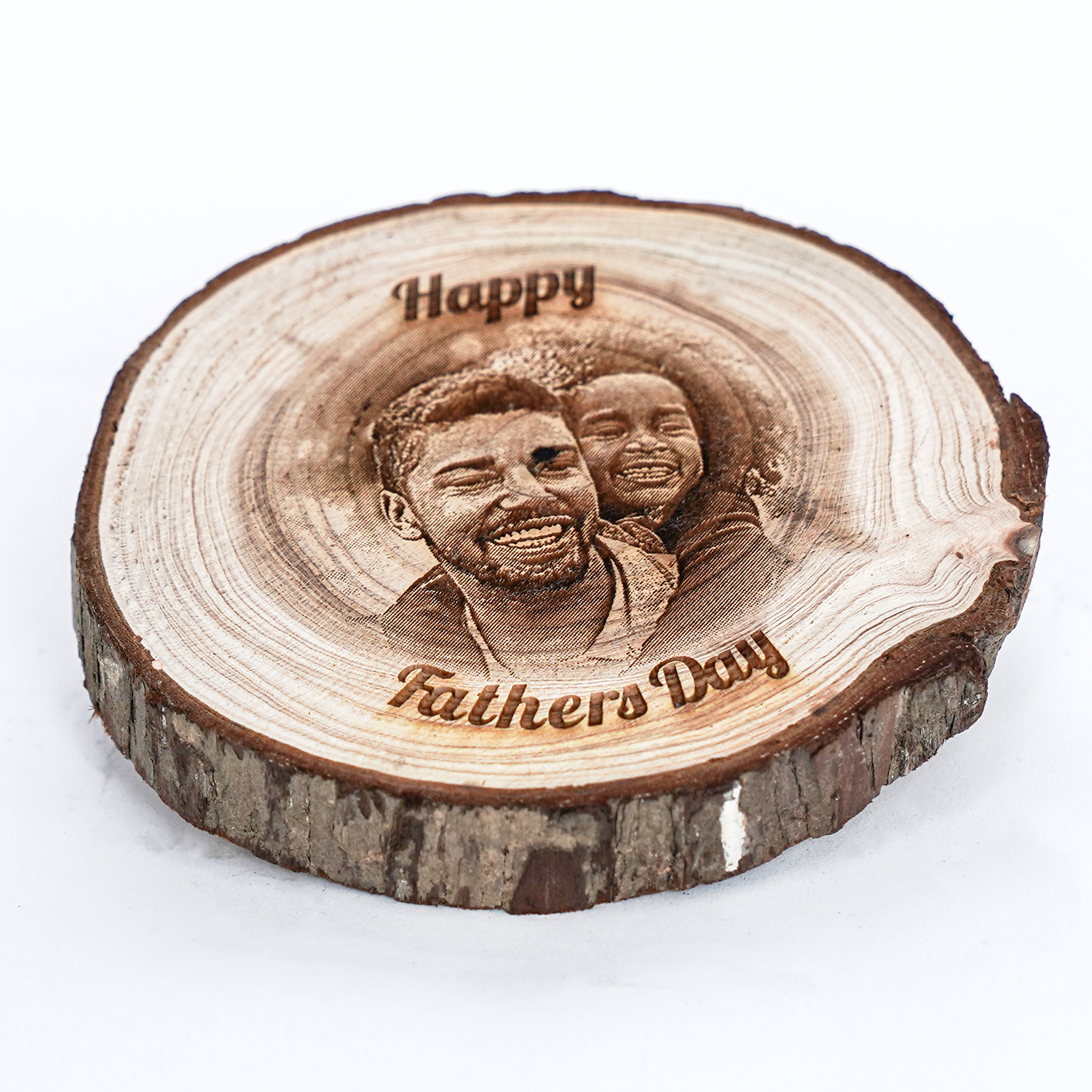 Personalised Wooden Round Log Disc for Dad: Personalised Gifts for Father