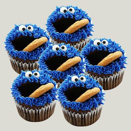 Cartoon Designer Chocolate Cupcakes Set Of 6: Cupcakes Dubai