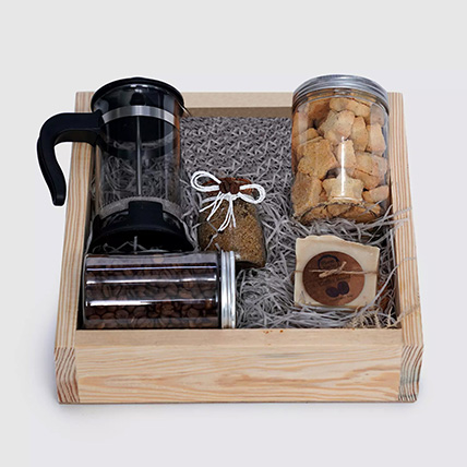 Father's Day Coffee Pot And Cookies Jar Hamper: Gift Hampers