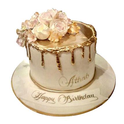 Delightful Roses Cake: Designer Cakes  Delivery