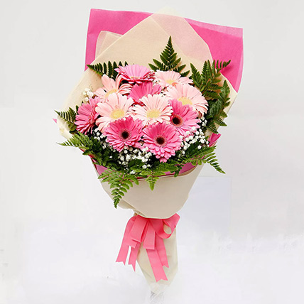 Beautiful Pink Gerbera Bouquet: Breast Cancer Awareness Gifts